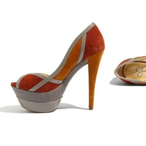 "Jessica Simpson Multicolored ""Match"" Pumps